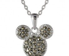 Disney Mickey Mouse Marcasite Pendant Necklace