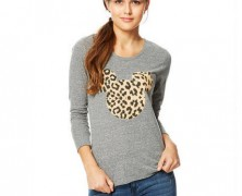 Mickey Mouse Leopard Long Sleeved Tee