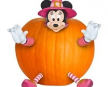 Minnie Mouse Pumpkin Decoration