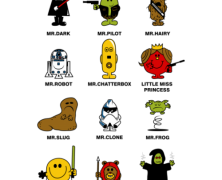 Little Mister and Little Miss Star Wars Tee