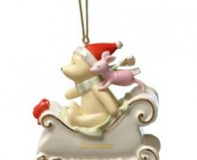 Lenox Pooh and Piglet Sleigh Ride Ornament