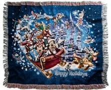 Mickey Mouse Happy Holidays Throw
