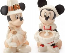 Mickey and Minnie Thanksgiving Salt and Pepper Shakers