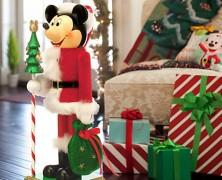 Santa Mickey Mouse Large Nutcracker