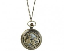 Alice in Wonderland Pocket Watch Necklace