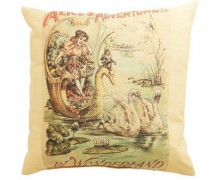 Retro Alice in Wonderland Pillow