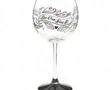 Be Our Guest Wine Glass