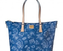 Dooney and Bourke Disneyana Navy Shopper Tote