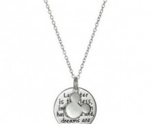 Mickey Mouse Sterling Silver Quote Necklace