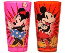 Mickey and Minnie Pint Glasses