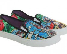 Beauty and the Beast Slip on Sneakers