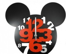 Mickey Mouse Big Number Clock