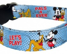 Mickey Mouse and Pluto Dog Collar