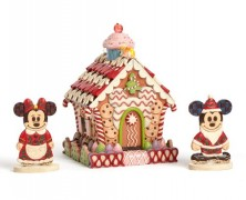Mickey and Minnie Mouse Gingerbread House