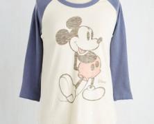 Vintage Mickey Mouse Baseball Tee