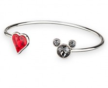 Mickey Mouse Heart Cuff Bracelet