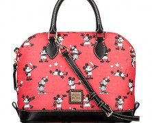 3c57eb21a50 Mickey and Minnie Dooney and Bourke Retro Red Satchel