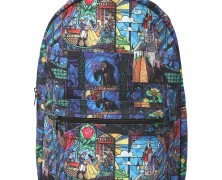 Beauty and the Beast Stained Glass Backpack