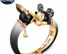 Mickey and Minnie Mouse Crystal Bangle