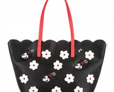 Minnie Mouse Black Floral Tote