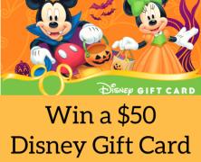 Enter to Win a $50 Disney Gift Card!
