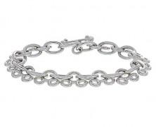 Mickey Mouse Sterling Silver Link Bracelet