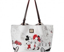 Dooney and Bourke Mickey and Minnie Cafe Leather Tote