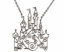 Disney Castle Scroll Necklace